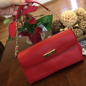 DKNY Elegant Red Shoulder Bag